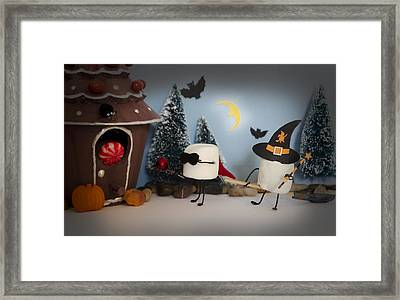 Trick Or Treat Framed Print by Heather Applegate