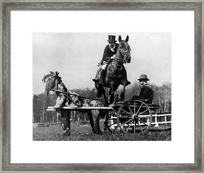 Trick Riding Framed Print by William G Vanderson