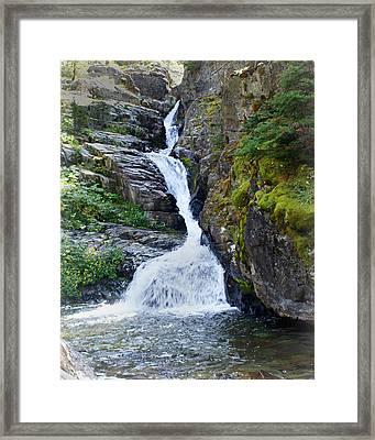 Tricky Falls Framed Print by Marty Koch