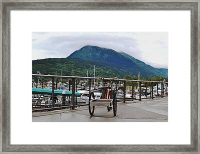 Tricycle At The Harbor Framed Print