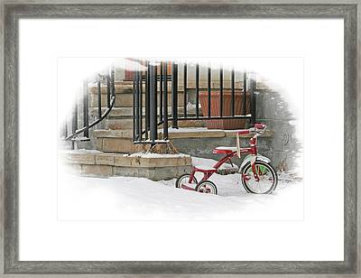 Tricycle Framed Print by Judy Deist