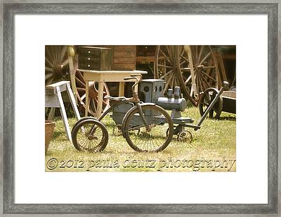 Trike Framed Print by Paula Deutz