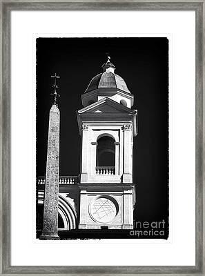 Trinita Church Tower Framed Print by John Rizzuto