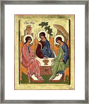 Framed Print featuring the painting Trinity by Raffaella Lunelli