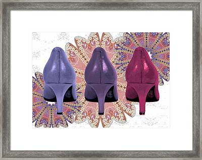 Trio On Pink Framed Print
