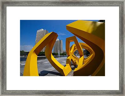 Framed Print featuring the photograph Trio On The Plaza by John Schneider