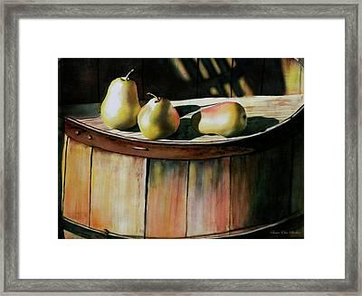 Trio Framed Print by Susan Elise Shiebler