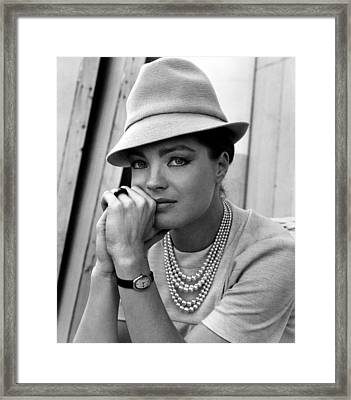 Triple Cross, Romy Schneider, 1967 Framed Print