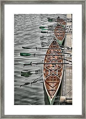 Framed Print featuring the photograph Triple Sculls by Jack Torcello