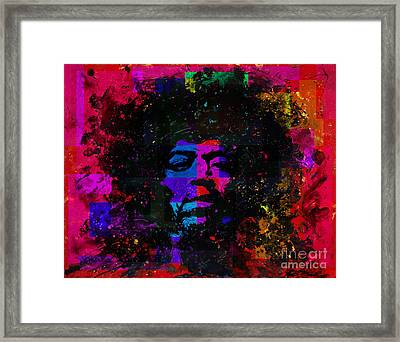 Tripping With Hendrix Framed Print by Chris Mackie