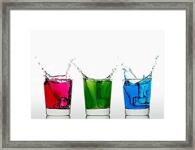 Triptych - Rgb Framed Print by Gert Lavsen