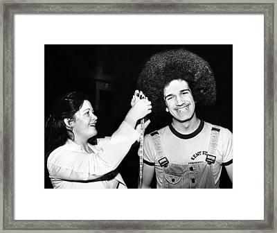 Trish Blankenburg Measures The Hair Framed Print