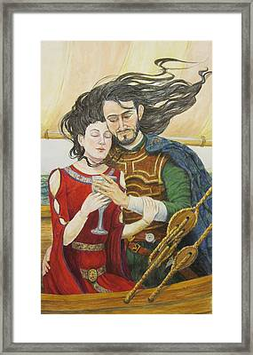 Tristan And Isolde Framed Print by Judy Riggenbach
