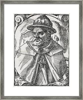Tristao Da Cunha, Portuguese Explorer Framed Print by Middle Temple Library
