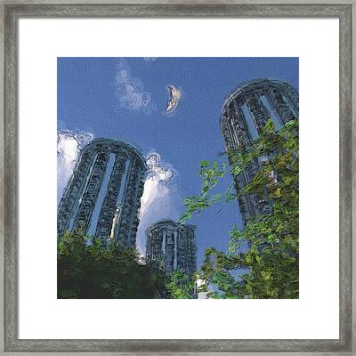 Triton Towers Framed Print by Richard Rizzo