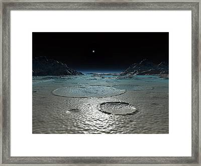 Triton's Surface, Artwork Framed Print