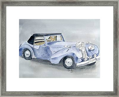 Triumph Roadster 45-49 Framed Print