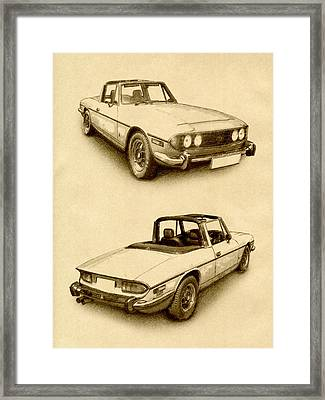Triumph Stag Framed Print by Michael Tompsett