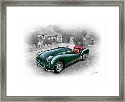 Triumph Tr-2 Sports Car Framed Print by David Kyte