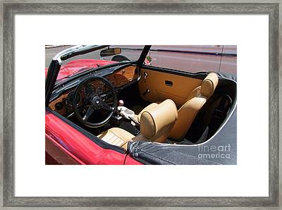 Triumph Tr6 Seats Framed Print by Mary Deal