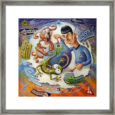 Triune Brain Framed Print by Michael Stancato