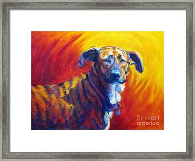Trixie Framed Print by Pat Burns