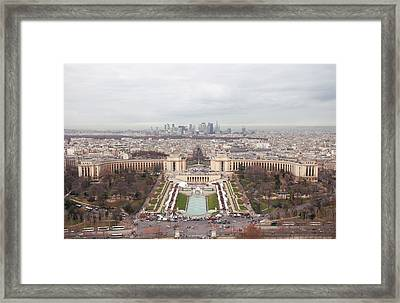 Trocadero From Eiffel Tower Framed Print by Nico De Pasquale Photography