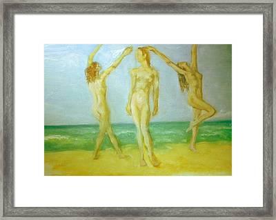 Trois Femmes Framed Print