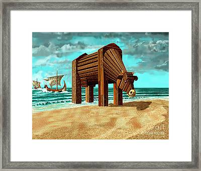Trojan Cow Framed Print