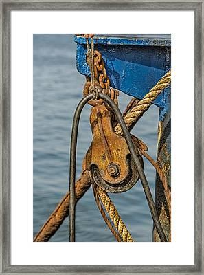 Troller Details Framed Print by Susan Candelario