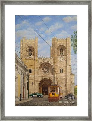 Trolley Lost In Time Framed Print by Carlos De Vasconcelos Tavares