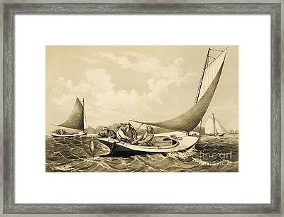 Trolling For Bluefish Framed Print by Pg Reproductions