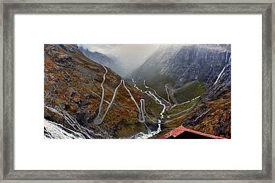 Trollstigen Framed Print by A A