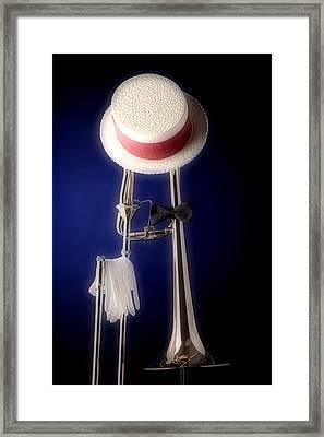 Trombone Hat Bow Tie Framed Print by M K  Miller