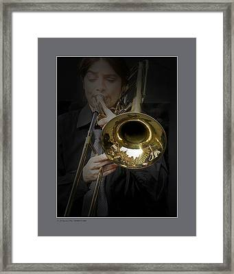 Framed Print featuring the photograph Trombone by Pedro L Gili