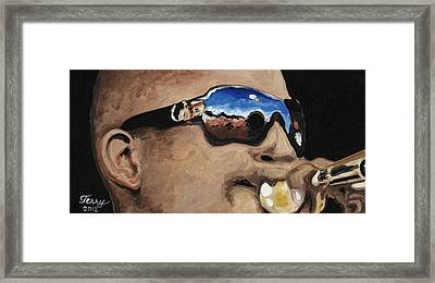 Trombone Shorty At The Jazz Fest Framed Print by Terry J Marks Sr