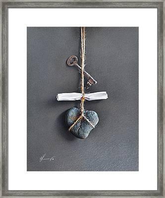 Trompe Loeil - Intimate Note Framed Print by Elena Kolotusha