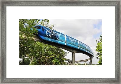 Tron A Rail Framed Print by David Lee Thompson
