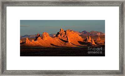 Trona Pinnacles Panorama Framed Print by Bob Christopher