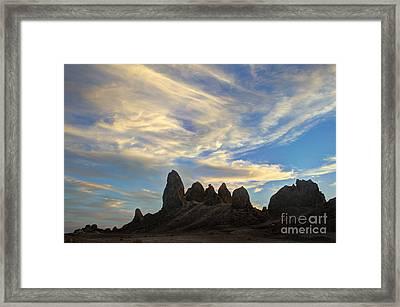 Trona Pinnacles Windswept Framed Print by Bob Christopher