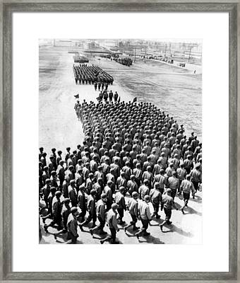 Troops Of The New 75th Infantry Framed Print by Everett