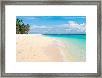 Framed Print featuring the photograph Tropical Beach by Hans Engbers