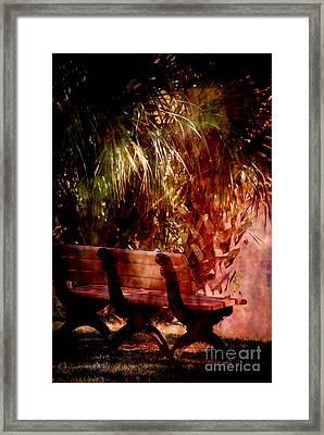 Tropical Bench Framed Print by Susanne Van Hulst