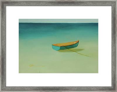 Tropical Calm Framed Print by Diane Cutter
