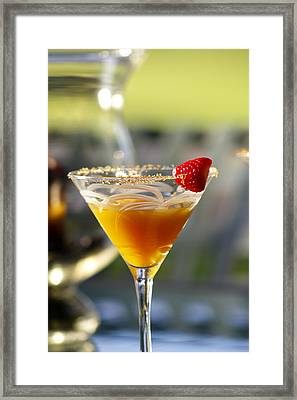 Tropical Cocktail Framed Print by Ron Dahlquist
