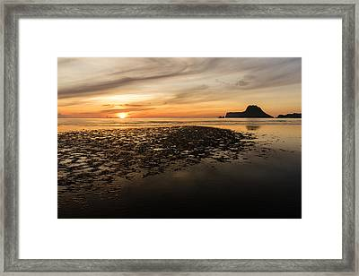Tropical Colorful Sunset  Framed Print by Panya Jampatong