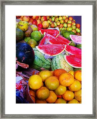 Tropical Colouring Framed Print by Bram Voets
