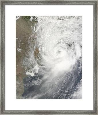 Tropical Cyclone Aila Framed Print by Stocktrek Images