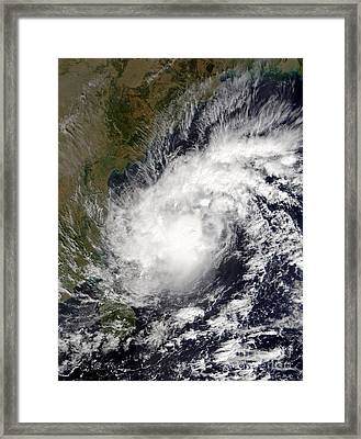 Tropical Cyclone Baaz Framed Print