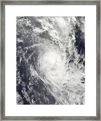 Tropical Cyclone Fanele Over Madagascar Framed Print